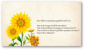 Bouquet De Tournesol Demandeparrainmarraine